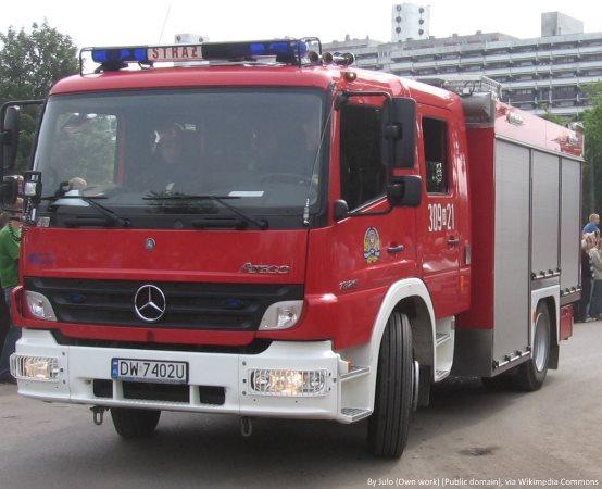 KPPSP Żywiec: Strażacy z Żywca rozkładają na…